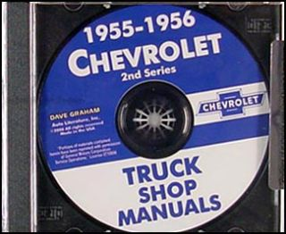 1955 1956 Chevrolet Truck Shop Manual on CD Chevy Pickup Panel