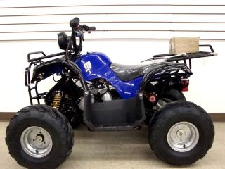 Cool Blue Quad Utility Powersport Kids 110cc ATV Full Auto 7 Wheels