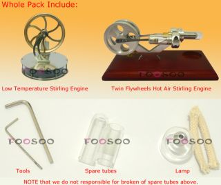 Flywheels Hot Air Stirling Engine & Low Temperature Stirling Engine