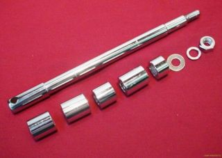 New Chrome Front Axle Kit for Harley FL Softail 86 99
