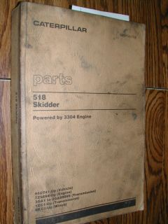 518 Parts Manual Book Catalog Skidder 94U741 Up 3304 Engine