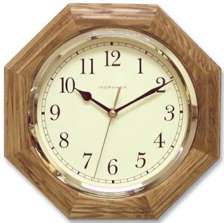 Ingraham Clocks 33 495 11.25 Marlboro Round Oak Wall Clock
