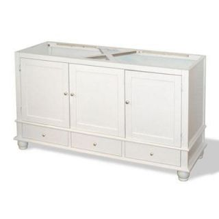 American Bath Factory W1 6033 WH 2 SN Cape Mansion 60 Vanity Cabinet