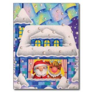 Weihnachtsbild   Weihnachtsabend, als es schneit Postkarten